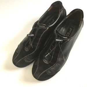 Paul Green Black Fashion Sneaker-Size 6